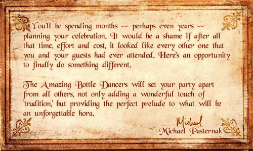 Michael's Message for Other Simchas